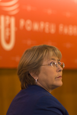 Michelle Bachelet, doctora honoris causa per la UPF