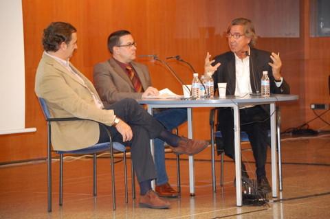 d'esquerra a dreta: Luis Collado, Javier Aparicio i Rafael Argullol