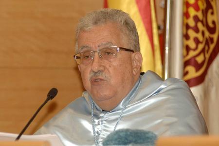 Josep Fontana, durant el seu discurs d'acceptació