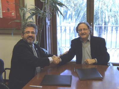 D'esquerra a dreta: Josep Joan Moreso i Josep Ramoneda