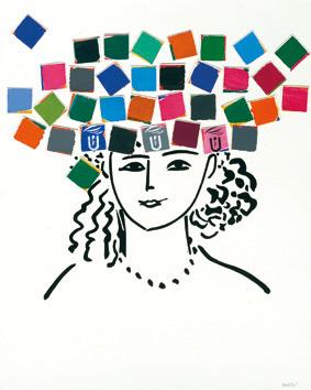 Cartell del curs acadèmic 2010-2011, obra de Manolo Valdés