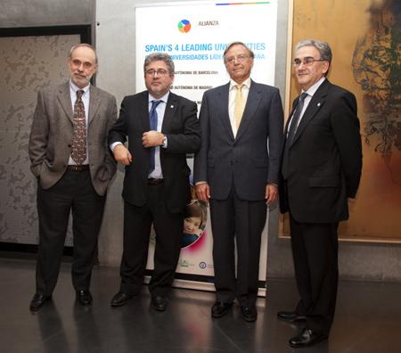 D'esquerra a dreta: Ferran Sancho, Josep Joan Moreso, Daniel Peña i José M. Sanz