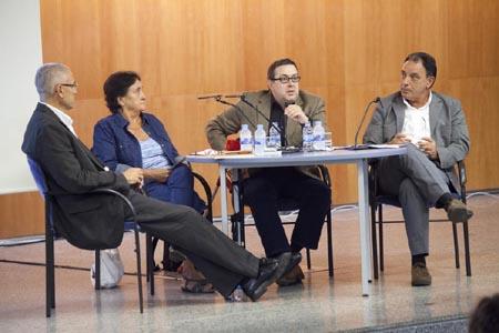 D'esquerra a dreta: Jaume Casals, Dolors Folch, Javier Aparicio i Miquel Berga