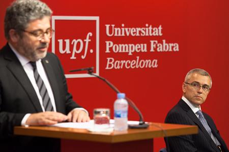Josep Joan Moreso durant el seu parlament