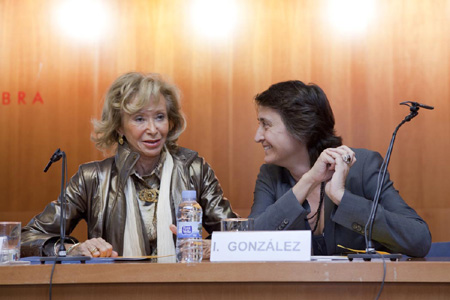 Teresa Fernández de la Vega i Itziar González Virós
