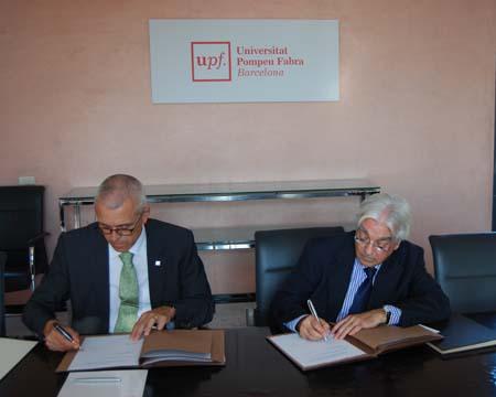 De izquierda a derecha: Jaume Casals y Carles A. Gasòliba