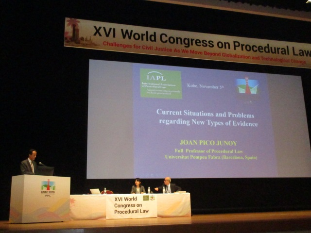 Joan Picó i Junoy en la seva intervenció al XVI Congrés Mundial de la International Association of Procedural Law