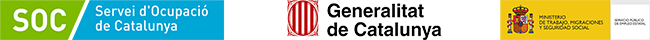 Logo SOC, Generalitat i Ministeri de Treball, Migracions i Seguretat Social