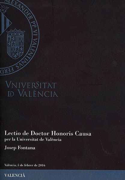 Lectio de Doctor Honoris Causa per la Universitat de Valencia