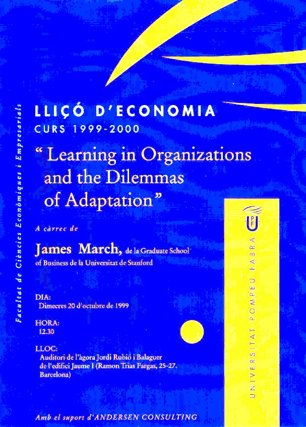 Learning in Organizations and the Dilemmas of Adaptation