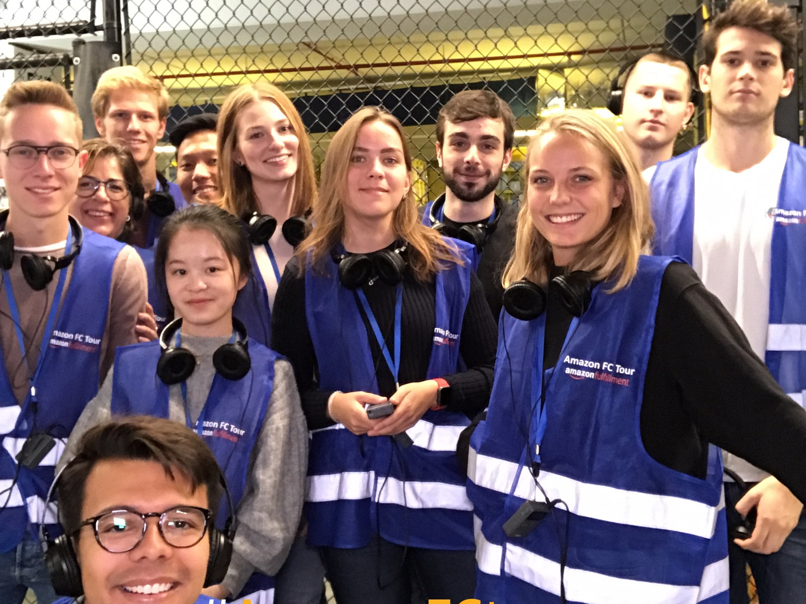 Business Logistics undergraduate students visit an Amazon logistics centre
