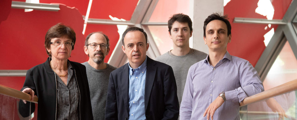 Prof. Juan José Ganuza and the project team - photo Fundación BBVA