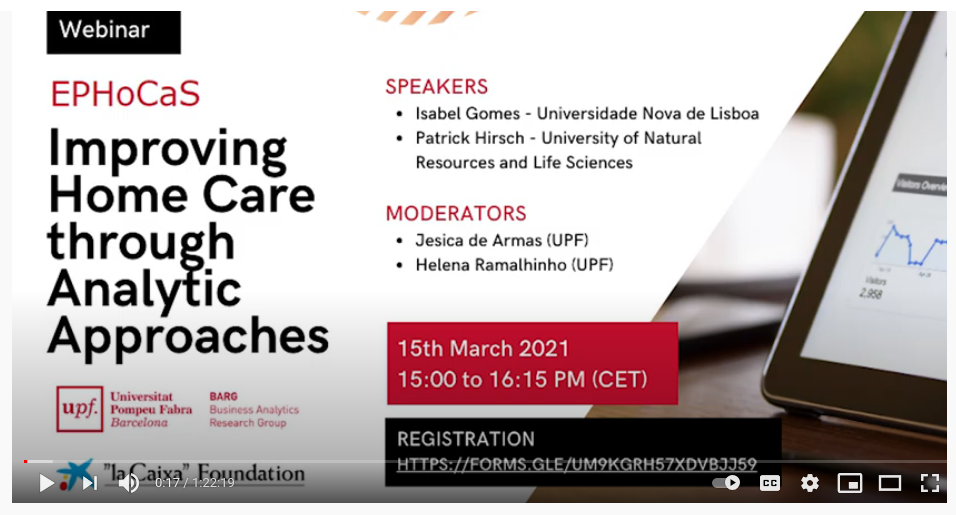 BARG 'Improving Home Care through Analytic Approaches' webconference