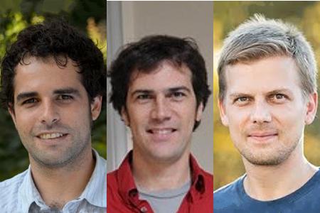 Profs. Gianmarco León, Joan Monràs, and Piotr Zwiernik