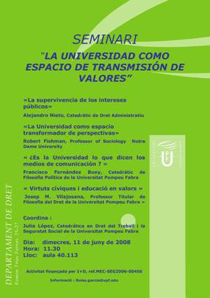 seminario universidad valores