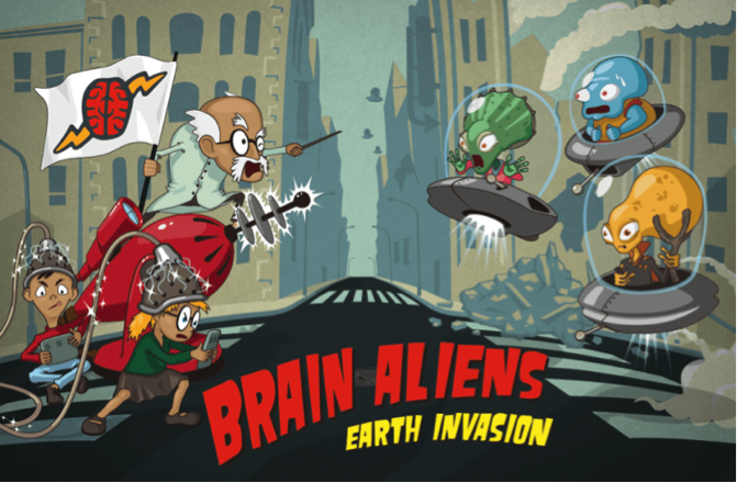 Resultat d'imatges de brain aliens earth invasion